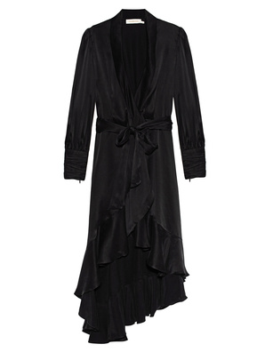ZIMMERMANN Midi Wrap Silk Black