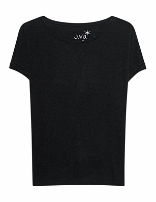 JUVIA CREW NECK BOXY Black
