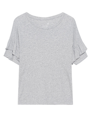 JUVIA Ruffle Cotton Light Grey