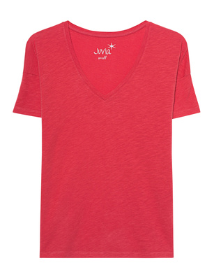 JUVIA Vneck Shirt Red