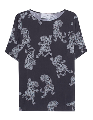JUVIA Tiger Print Shirt Anthracite