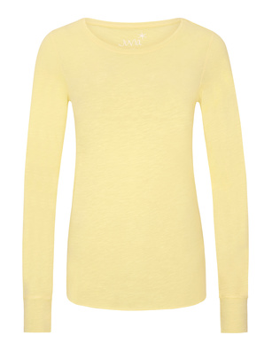 JUVIA Crew Neck Long Yellow