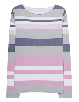 JUVIA Crew Neck Stripes Multicolor