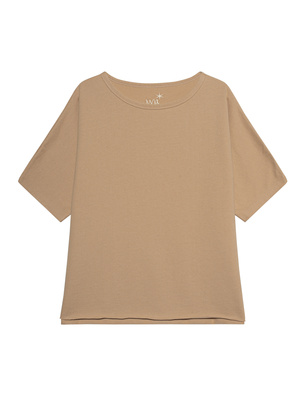 JUVIA Cape Sweater Milky Coffee Beige