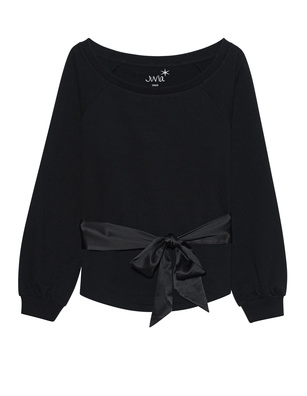 JUVIA Bow Sweat Black