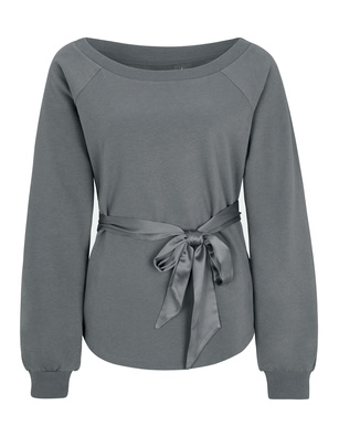 JUVIA Bow Sweat Elephant Grey