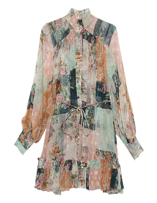 ZIMMERMANN Wavelength Patchwork Mini Multicolor