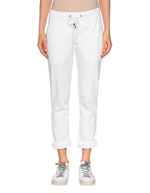 JUVIA Fleece Trousers Turn Up White