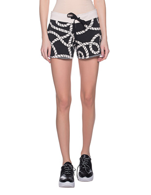 JUVIA Cable Pattern Short Black