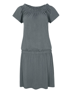 JUVIA Off Shoulder Elephant Grey