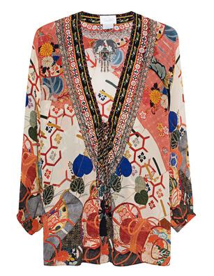 CAMILLA Tunika Lace Up Multicolor