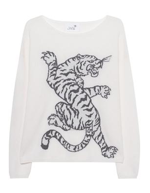 JUVIA Intarsia Tiger Off-White