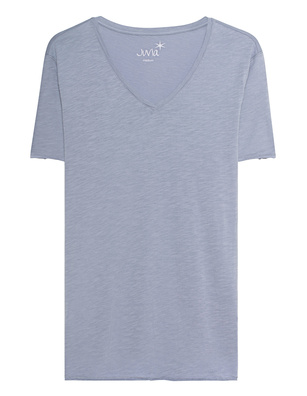JUVIA Deep V Neck Light Blue
