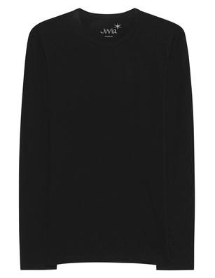 JUVIA Basic Shirt Long Black