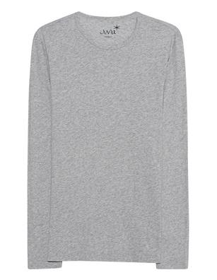 JUVIA Basic Shirt Long Lightgrey