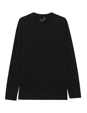 JUVIA Long Crew Neck Black