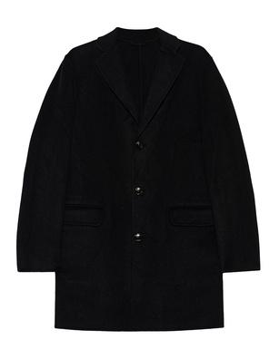 JUVIA Chic Wool Flap Pocket Black
