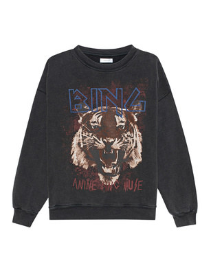 ANINE BING Tiger Washed Out Black