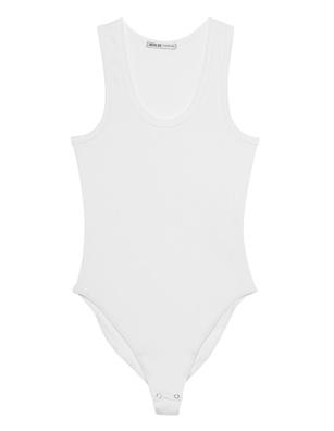 AGOLDE Bodysuit Racer Off-White
