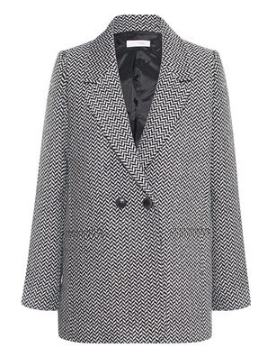 ANINE BING Fishbone Blazer Black White