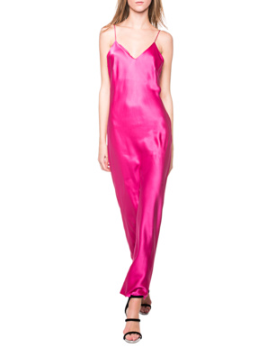 ANINE BING Silk Slip Dress Pink
