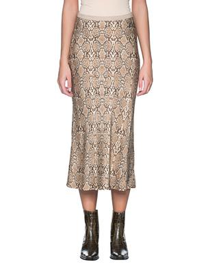ANINE BING Python Skirt Beige