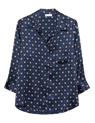 ANINE BING Billie Print Navy