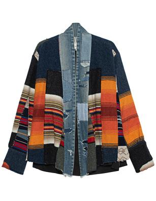 GREG LAUREN Blanket Scrapwork Multicolor