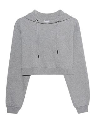 aprilmarch Crop Hood Grey