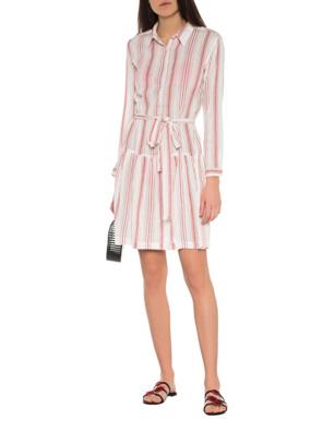 Melissa Odabash Amelia Red Stripes Off-White