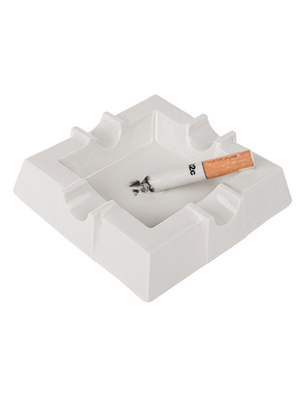 032c Smokers Ashtray White