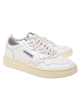 Autry Low Leather White