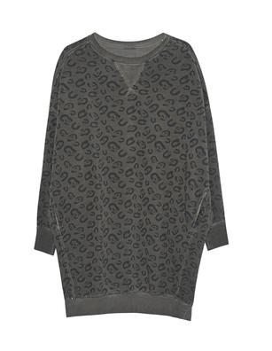 GREY MARL  Oversize Sweater Leo Olive