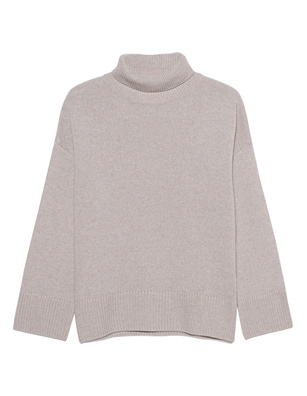 GREY MARL  Turtle Knit Beige