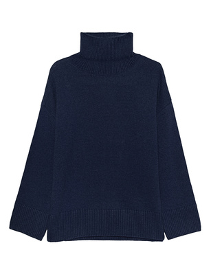 GREY MARL  Turtle Knit Nvay