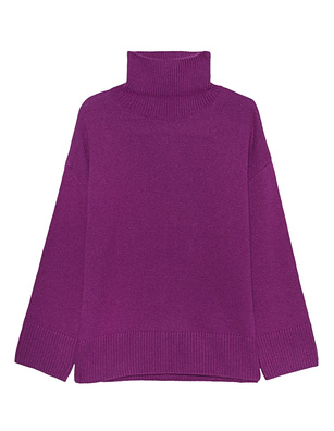 GREY MARL  Turtle Knit Lilac