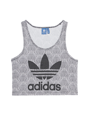ADIDAS ORIGINALS Shell Croptank Black & White