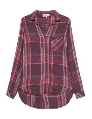 bella dahl Checked Multicolor Red
