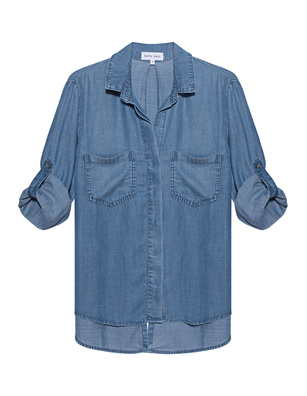 BELLA DAHL Split Shirt Denim Blue