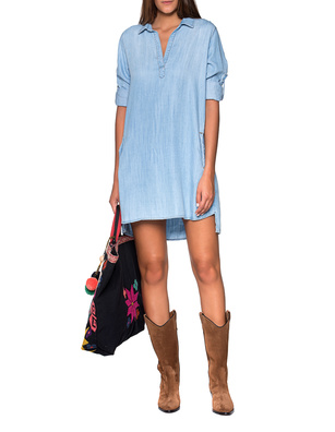 bella dahl Shirt Dress Vintage Dress Blue