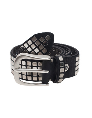 B.Belt Square Studs Black