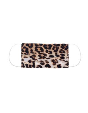 JADICTED Face Mask Silk Brown Leopard
