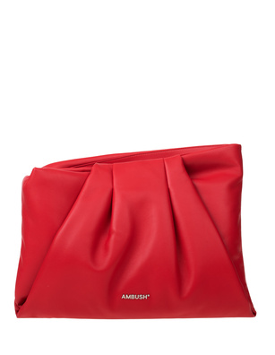 AMBUSH Maxi Wrap Clutch Red