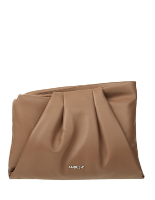 AMBUSH Maxi Wrap Clutch Beige