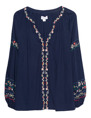 VELVET BY GRAHAM & SPENCER Carina Ethno Embroidery Navy