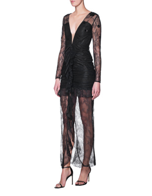 FOR LOVE AND LEMONS Lace Long Black
