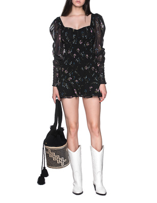 FOR LOVE AND LEMONS Dixon Mini Flower Black
