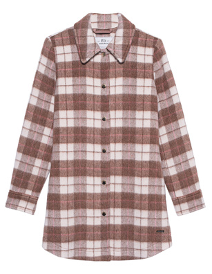 WOOLRICH Cozy Wool Medium Checked Brown