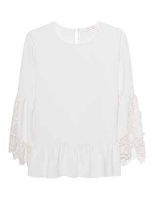SEE BY CHLOÉ Flared Sleeve Off White