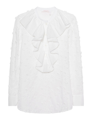 SEE BY CHLOÉ Ruffle Embroidery White